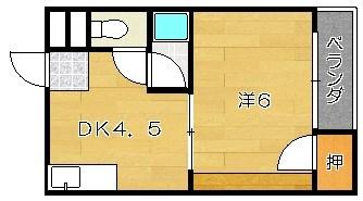 第5摂津ハイツ 105号室 間取り