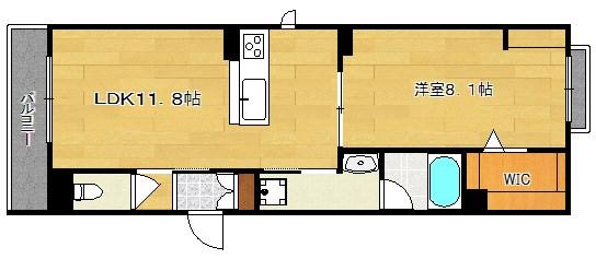 積水ハウス施工 仮称:新築シャーメゾン富田町4丁目 301号室 間取り