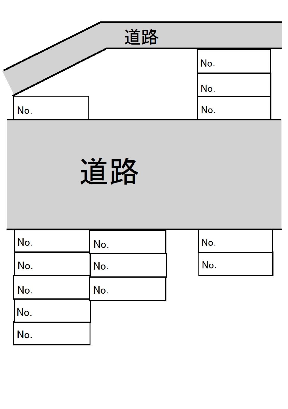 豊成第二駐車場(No40~No54) 間取り