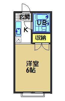相川ハイツ 203号室 間取り