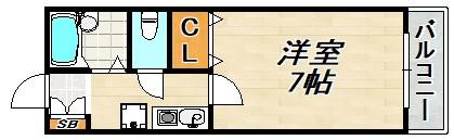 長田山手ガーデンハイツ 間取り図