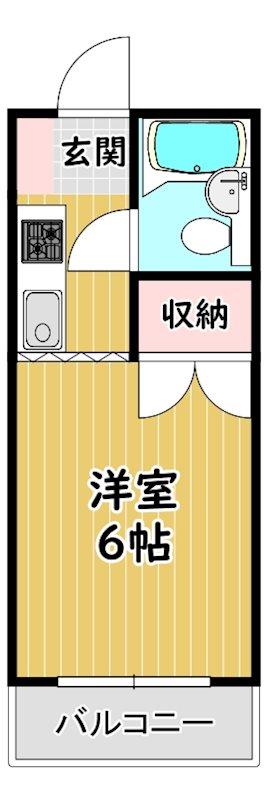 ピュアシティ清瀬 207号室 間取り