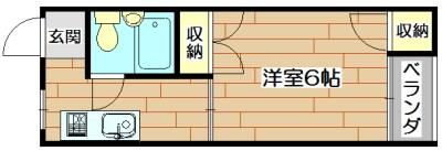 柳原第2パールマンション 303号室 間取り