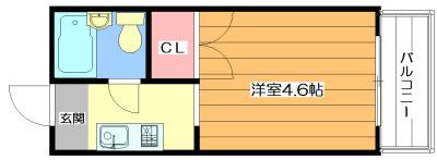 弘竹ホワイトハイツ 間取り図