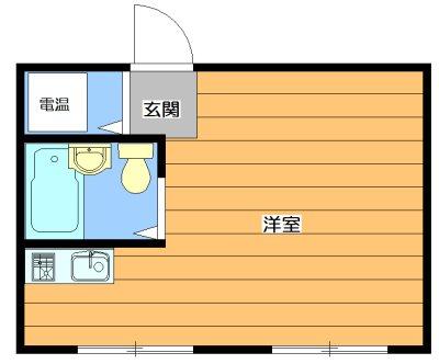U-house 203号室 間取り