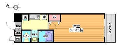 モノロカーレ江坂 間取り図