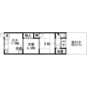 教興寺マンション 218号室 間取り
