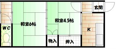 竹村文化 202号室 間取り