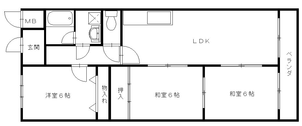 友田コーポラス 162号室 間取り