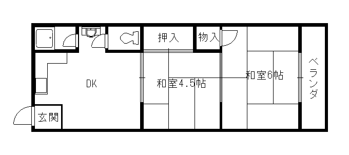 森川ハイツ 102号室 間取り