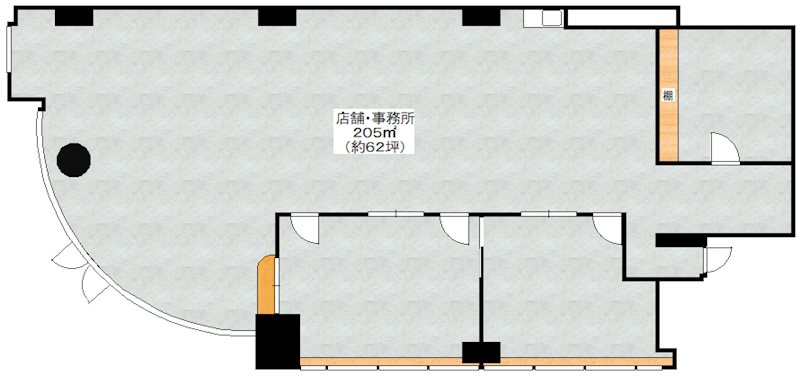 八尾南駅前ビル クロスティ壱番館 間取り図