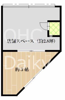 栄マンション (店舗)  108号室 間取り