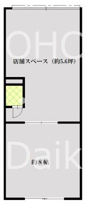 栄マンション (店舗)  107号室 間取り