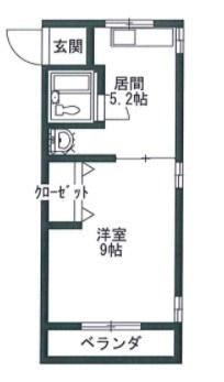 三栄マンション 307号室 間取り