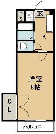 昭和ハイツ 202号室 間取り