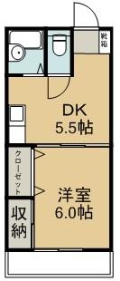 武田ハイツA 404号室 間取り