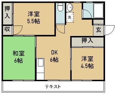 平野マンション 104号室 間取り