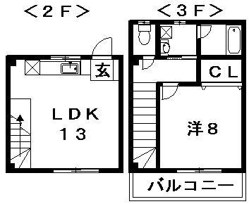Crest新浜 C-2号室 間取り