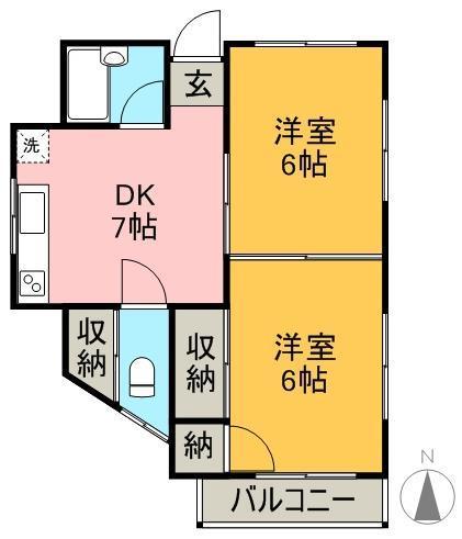 松本アパート 3号室 間取り