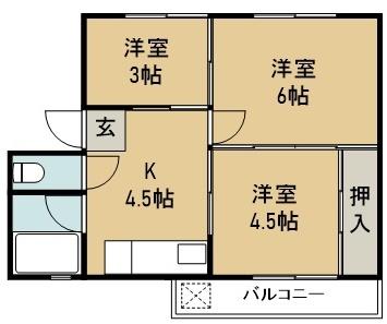 増岡アパート G号室 間取り