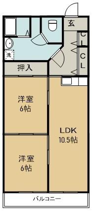 第14柴田マンション 502号室 間取り