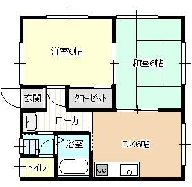 ハイツ江川新 2号室 間取り
