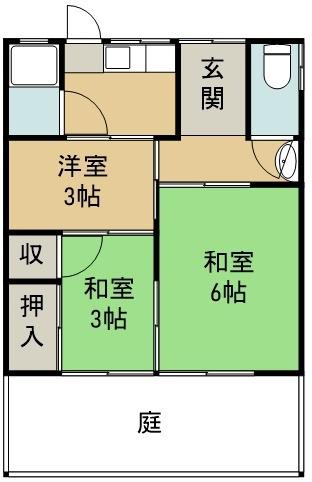 本谷事務所・倉庫 東から2番目号室 間取り