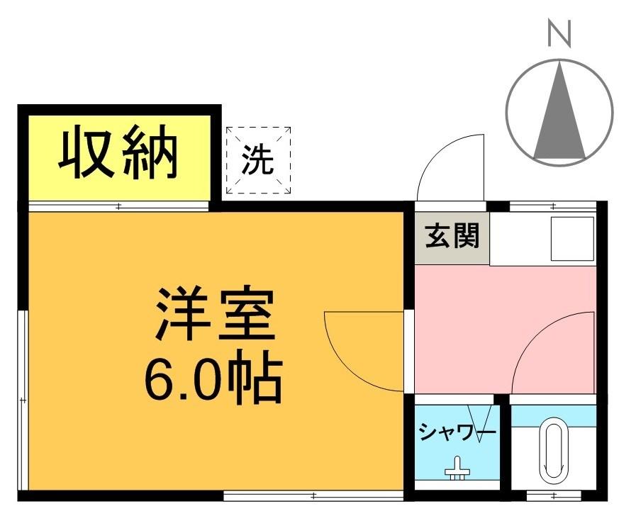 ハイネス浜田山A棟 202号室 間取り