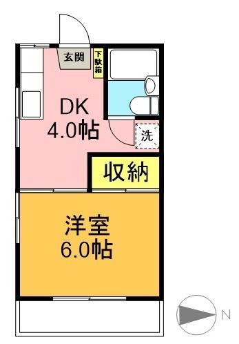 カサボニータ 206号室 間取り