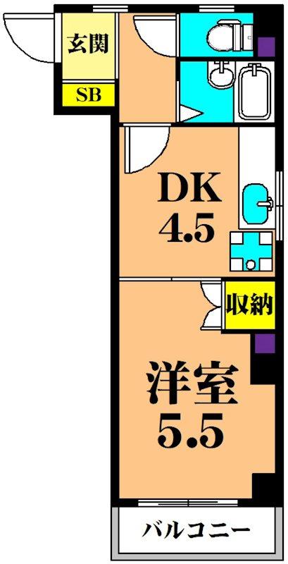 カーサ花の木 304号室 間取り