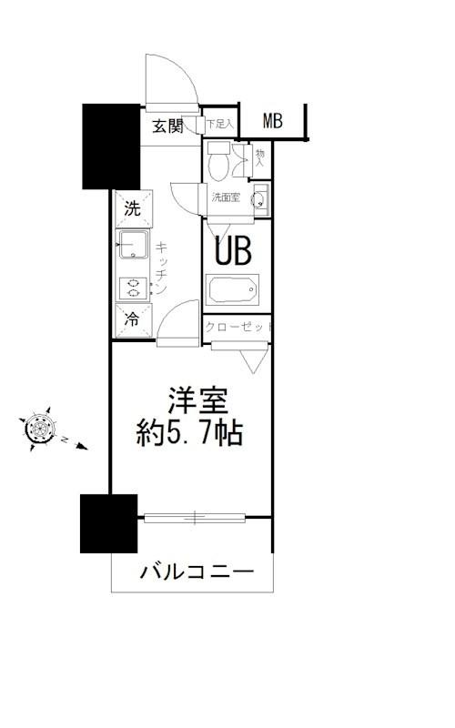 エスティメゾン錦糸町Ⅱ 617号室 間取り