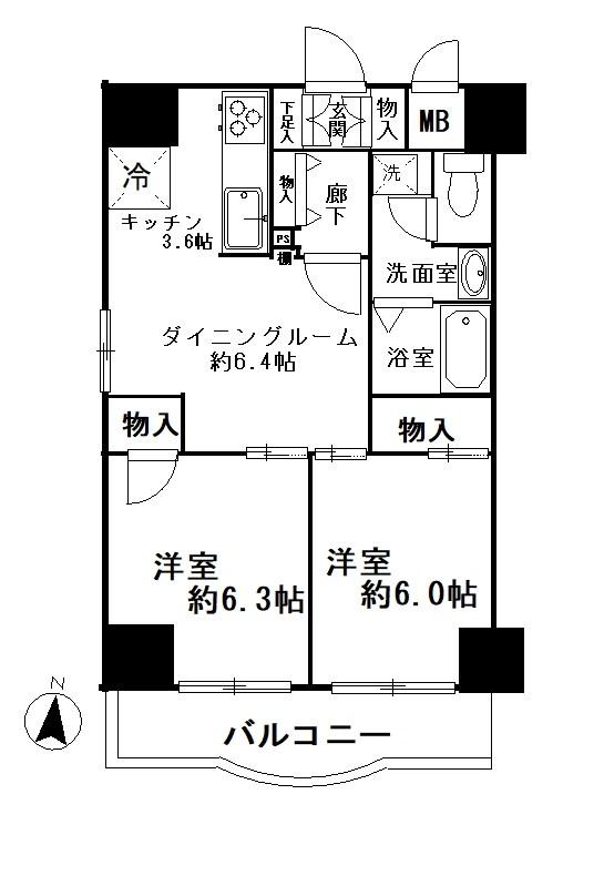 錦糸パークヤマト 705号室 間取り