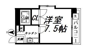 SUGIYAMA BILL 401号室 間取り