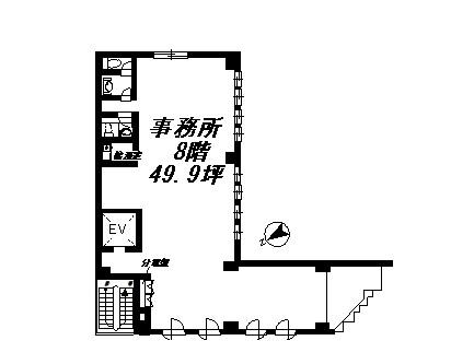 三木ビル 8F号室 間取り