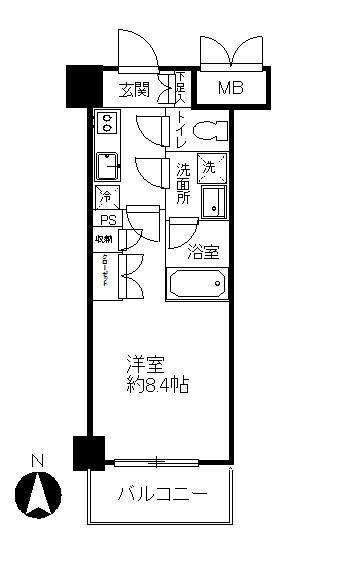 モアナ錦糸公園 間取り図