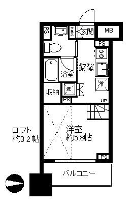 レジディア錦糸町II 間取り図