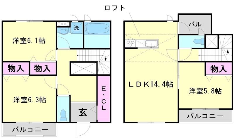 WIN WIN HOUSE 7号室 間取り