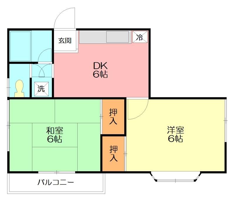 コーポ・ヒメシャラ 202号室 間取り