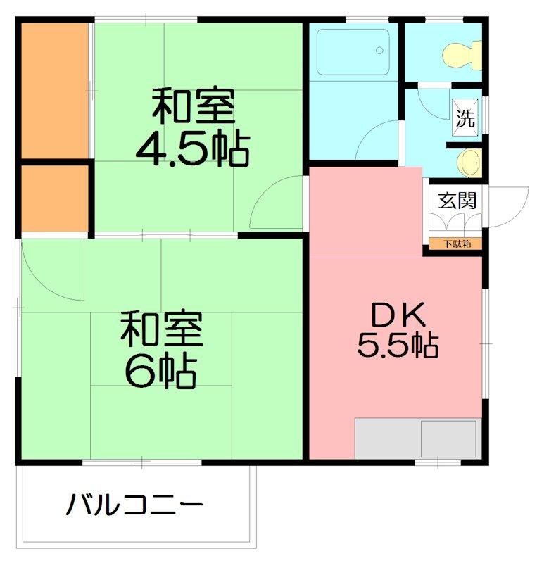 武田アパート 間取り