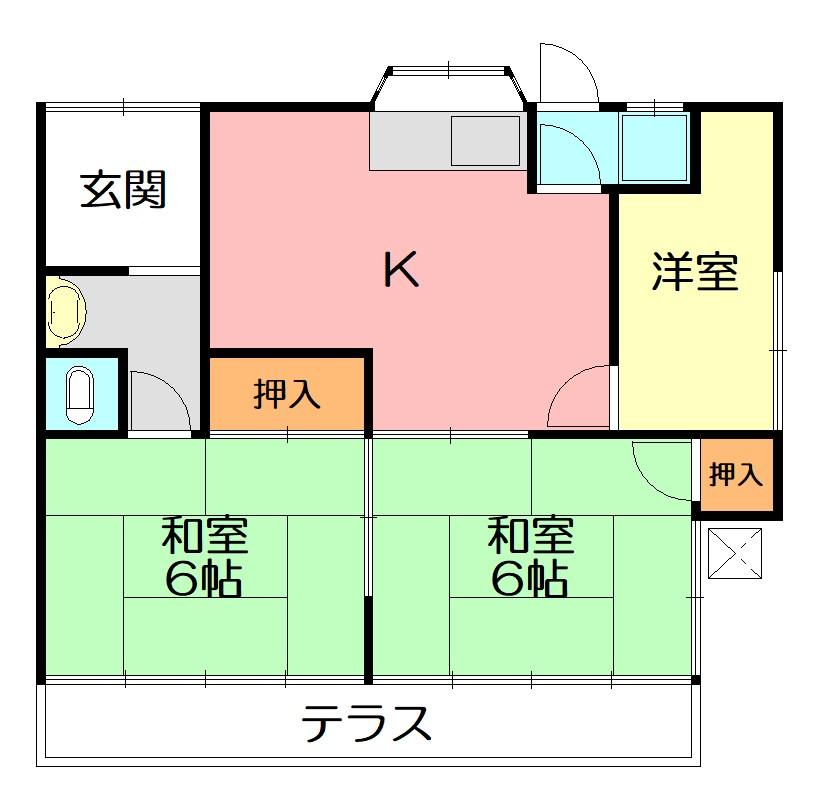 駒形新宿20貸家A 間取り