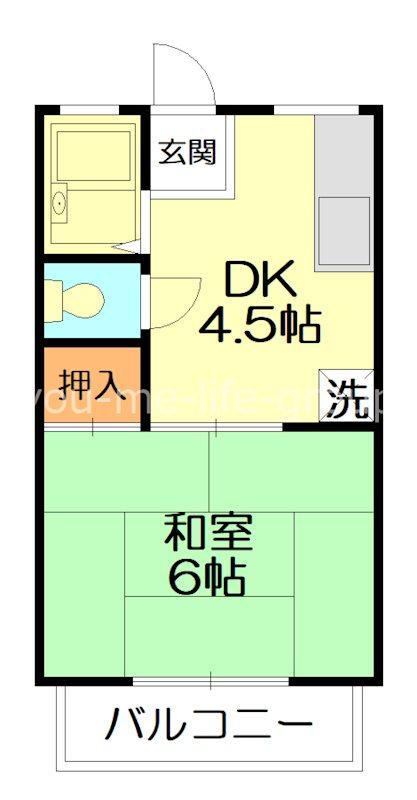 シティハイム鶴巻壱番館 203号室 間取り