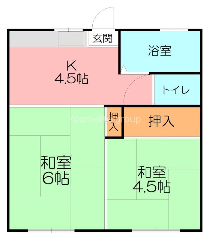 平塚市 山下 賃貸アパート 間取り