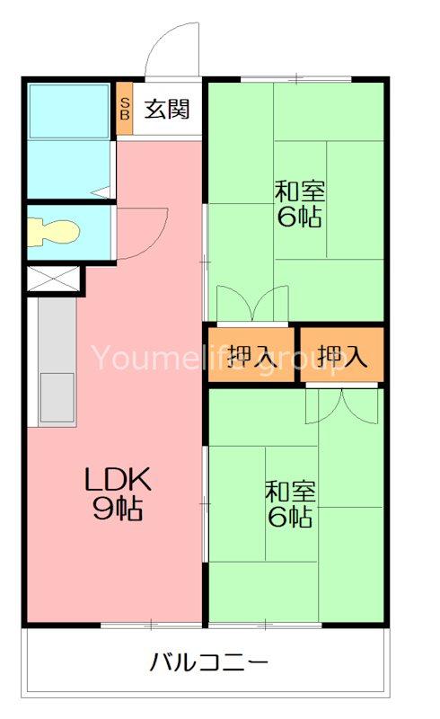 コシミズマンション 302号室 間取り