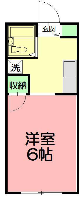 サンライズヒル湘南 206号室 間取り