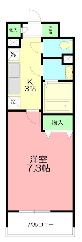 パーシモン湘南 302号室 間取り