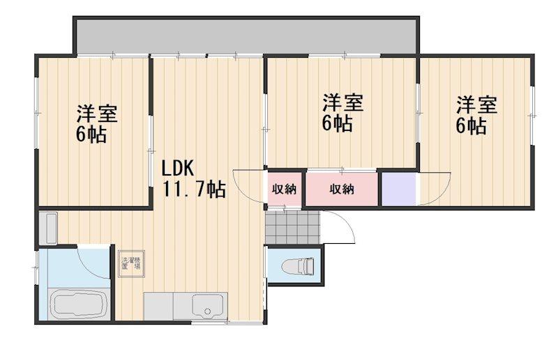 清花ビル 3F号室 間取り
