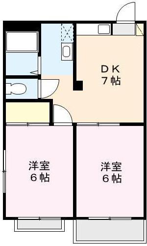 カーサ鈴木Ⅰ 104号室 間取り