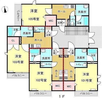 MANSION KR-G 間取り図