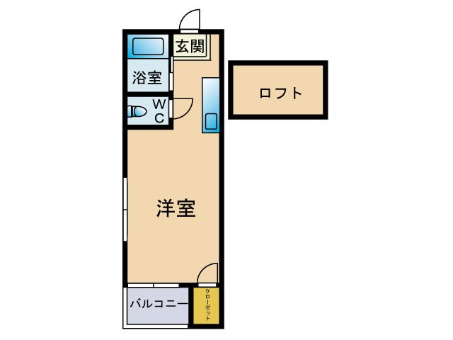 ニューパレス24 ※※号室 間取り
