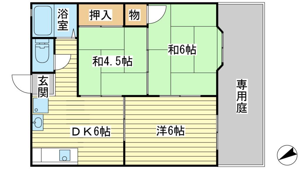 サウスコート赤坂B 間取り図